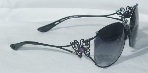 Anna Sui Sunglasses AS 876 001 Matt Black